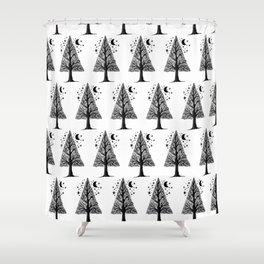 The night tree Shower Curtain