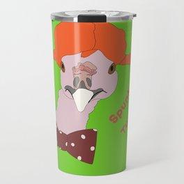 Spunky Turkey Orange Hair GB TX Travel Mug