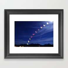 Sept 27th 2015 Supermoon Eclipse Over Arizona Framed Art Print