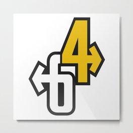 64 - Valiant Numbers Metal Print