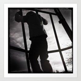 Climbing the Grid Art Print