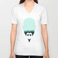heisenberg V-neck T-shirts featuring Heisenberg by filiskun