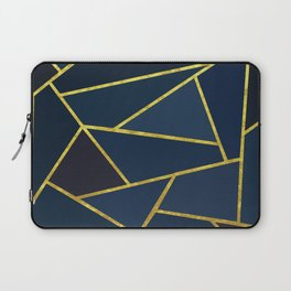 The Color of Navy And Gold Laptop Sleeve