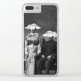 Stormy Couple Clear iPhone Case