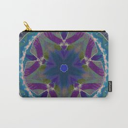 Floral Kaleidograph Carry-All Pouch