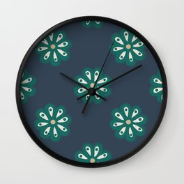 Scandi Daisies Wall Clock