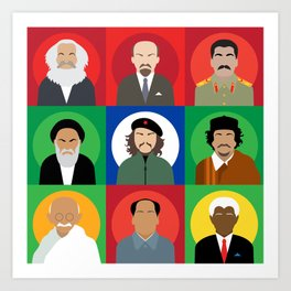 Revolutionaries persons.  Art Print