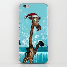 Funny, cute giraffe iPhone Skin