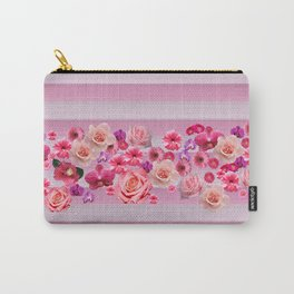 pretty and happy pink flowers Carry-All Pouch