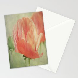 Big Poppy digital Paintings Stationery Cards