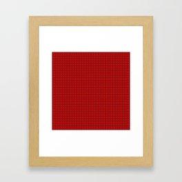 Holiday Red Poka Dot pattern Framed Art Print