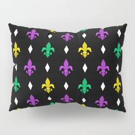 Mardi Gras Pattern | Funny Carnival Graphic Pillow Sham