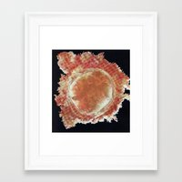 muscle Framed Art Prints featuring Muscle by French For Gluing