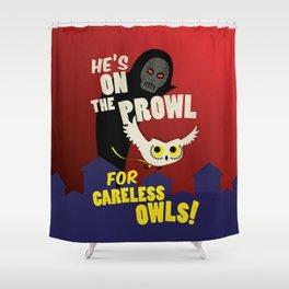 Careless Owls Shower Curtain