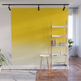 Yellow Dot Ombre to White Wall Mural