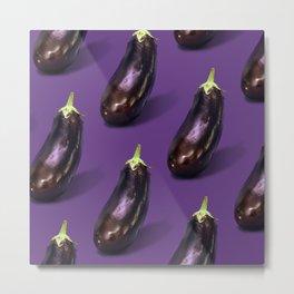 Big Eggplant Energy Metal Print