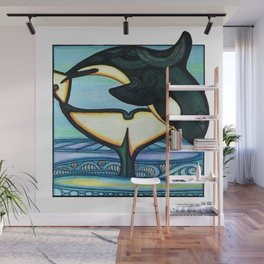 Orca Whimsy Wall Mural