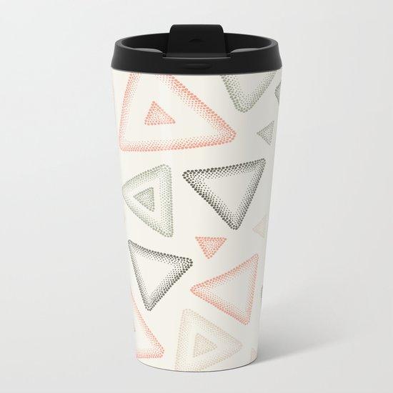 Retro Dotted Pattern 01 Metal Travel Mug