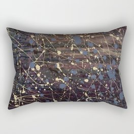 New York. Graffiti, Abstract, Blue, Purple, Pollack, Jodilynpaintings, Splatter Rectangular Pillow