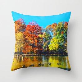 Vibrant Thing Throw Pillow