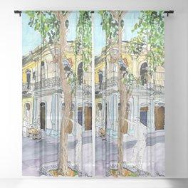 View from Parque Cristo, Habana Vieja, Cuba Sheer Curtain