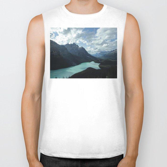 Blue Lake Biker Tank