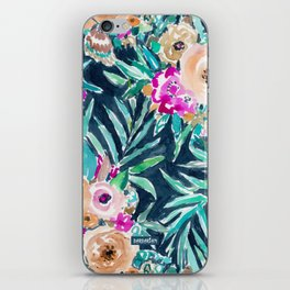 SO CASUAL Dark Tropical Palm Floral iPhone Skin