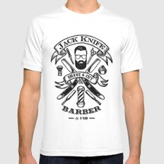 Jack Knife White MEDIUM Mens Fitted Tee