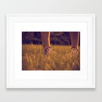 converse Framed Art Prints featuring Converse by Sarah Zanon