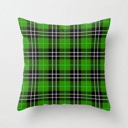 green plaid pattern Throw Pillow