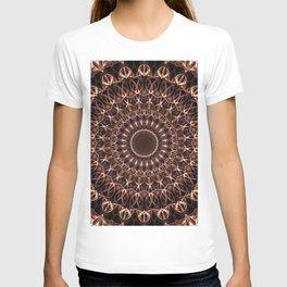 Brown and copper mandala T-shirt