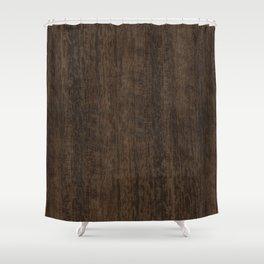 Smoked Etimoe Wood Shower Curtain