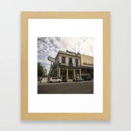 Nice lookin' street corner in La Havana, Cuba Framed Art Print