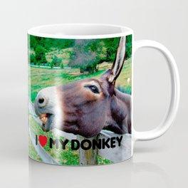 I Love My Donkey Funny Mule Farm Animal Coffee Mug