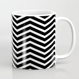 Black & White Chevron Stripes Coffee Mug