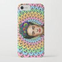 frida kahlo iPhone & iPod Cases featuring Frida Kahlo by Luna Portnoi