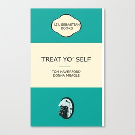 Treat yo' self - the book Canvas Print