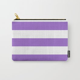 Amethyst - solid color - white stripes pattern Carry-All Pouch
