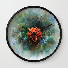 Red Flower in Bloom Wall Clock