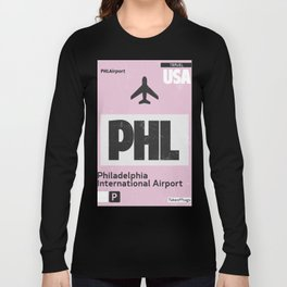 PHL Philadelphia airport code Long Sleeve T-shirt