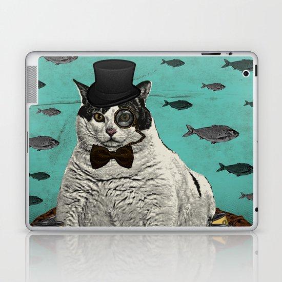Fat Cat Print Laptop & iPad Skin