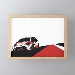 WRC Yaris Framed Mini Art Print