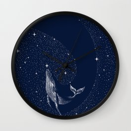 starry whale Wall Clock