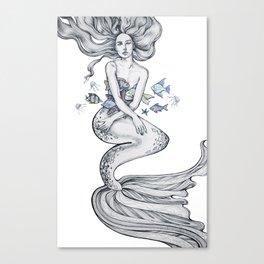 Gorgeous merwoman Canvas Print