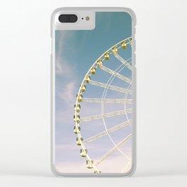 Paris Ferris Wheel Clear iPhone Case