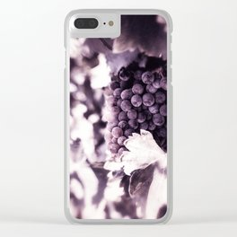 Grapes into Wine Clear iPhone Case
