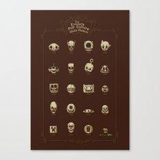 The Exquisite Pop Culture Skulls Museum Canvas Print