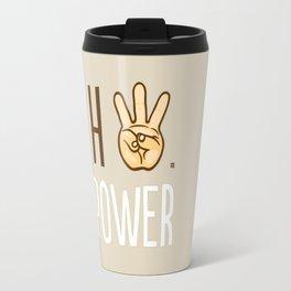 HiiiPower (w/text) : Pale Travel Mug