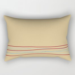 Multi Colored Scribble Line Design Bottom V6 Rustoleum 2021 Color of the Year Satin Paprika & Accent Rectangular Pillow