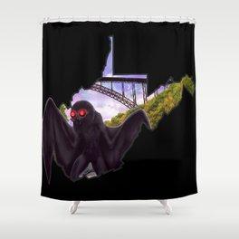 Wild and Wonderful Mothman Shower Curtain